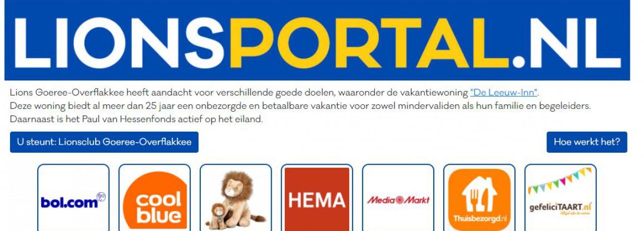 Koop online via lionsportal.nl en steun onze goede doelen